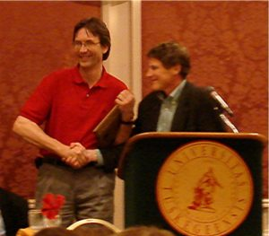 2007 Awardee Mark Romer, Bruce Bugbee (presenter)