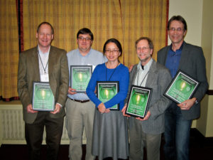 2013 Awardees- A.J. Both, Henry Imberti, Chieri Kubota, Gary Stutte & Mark Romer